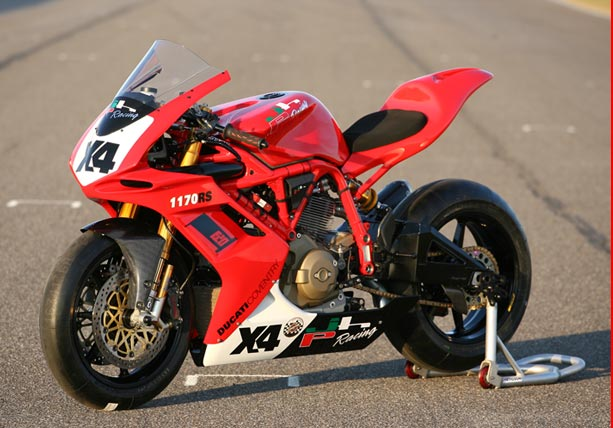 Left View with Race Fairings - 1170 RS Ducati Racing Motorcycle
